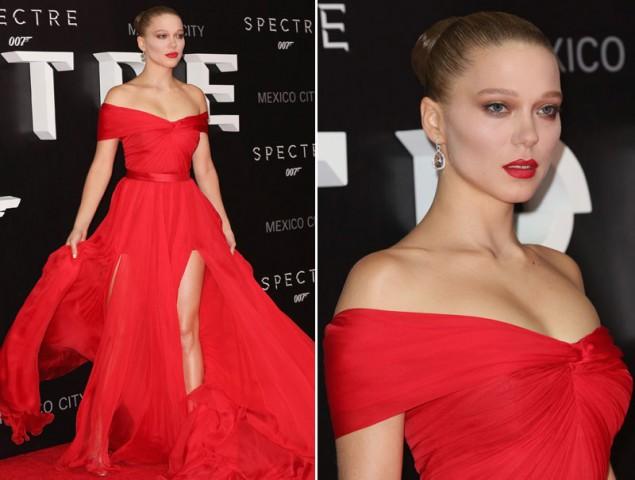 Léa Seydoux, la chica Bond más espectacular en el estreno de 'Spectre'