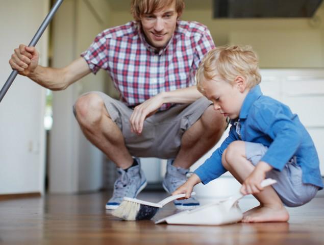 Las tareas domésticas también son cosa de niños