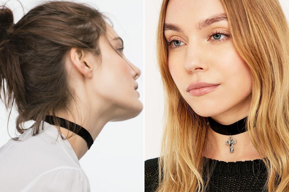 Zara o Urban Outfitters también apuestan por estas gargantillas.