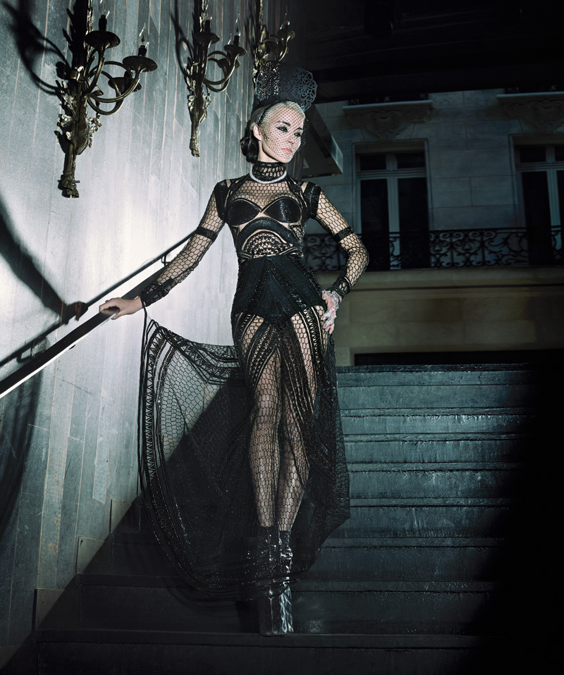 Vestido de Alexander MCQueen hecho a medida.