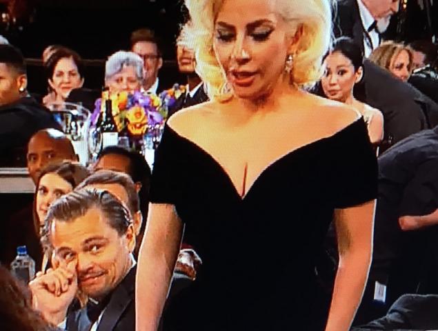 La cara de Leo Di Caprio al ganar Lady Gaga es un poema (y otros imperdibles de la gala)