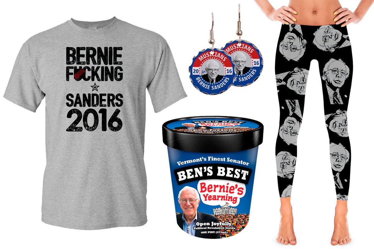 Algunos ejemplos del merchandising que sus fans venden en la red.