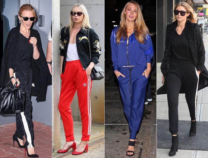 Kylie Minogue, Alexandra Spencer, Blake Lively o Gigi Hadid son algunas de las celebrities que se han atrevido a colocarse un chandal con tacones en los últimos meses.