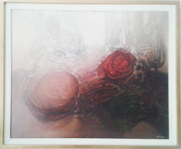 'Nacimiento Orgánico', óleo sobre lienzo, 1973.