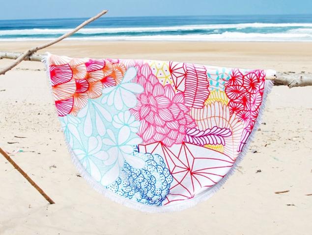 Obsesión para el verano: toallas de playa redondas hechas con mucho amor
