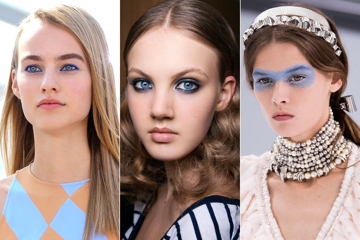 La mirada azul de Jil Sander, Sonia Rykiel y Chanel.