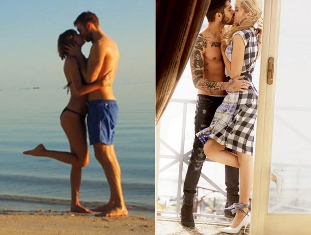 ¿Por qué las famosas se empeñan en levantar la pierna al besarse?