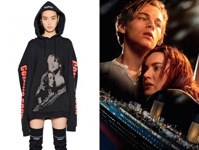 La sudadera de 'Titanic' y otros 'taquillazos' de los 90 que inspiran a la moda