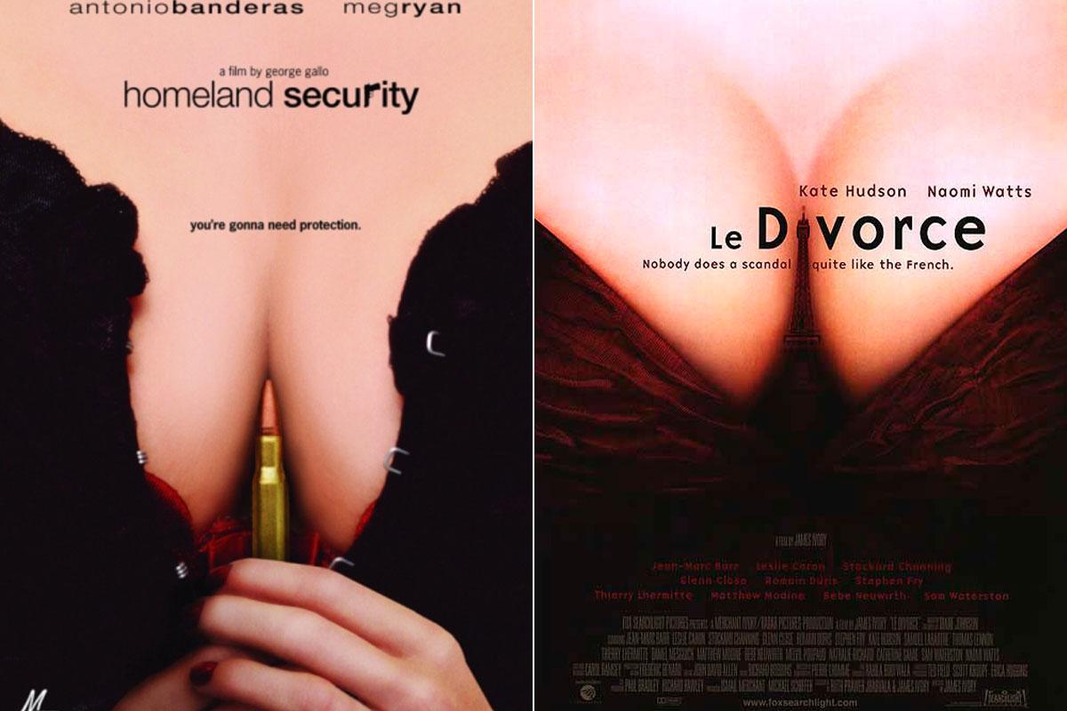 'Le Divorce' o 'Homeland Security' apostando por el escote en sus carteles.