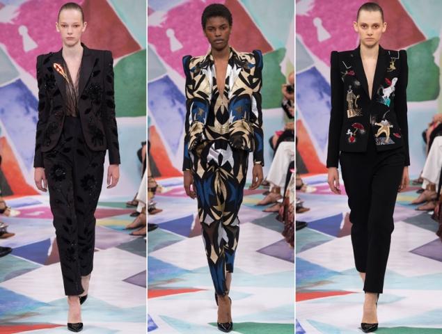 Schiaparelli reinventa el esmoquin en la Alta Costura de París