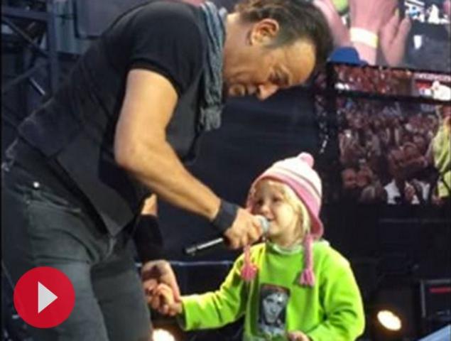 Vídeo: la niña de 4 años que le robó el corazón a Bruce Springsteen