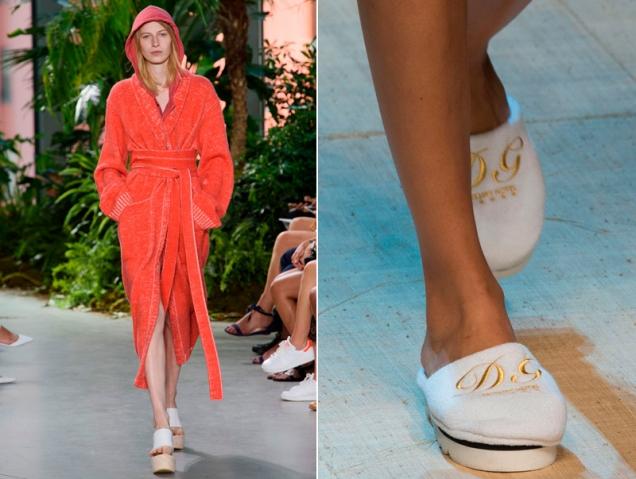 La última locura de la moda es salir a la calle en albornoz y zapatillas