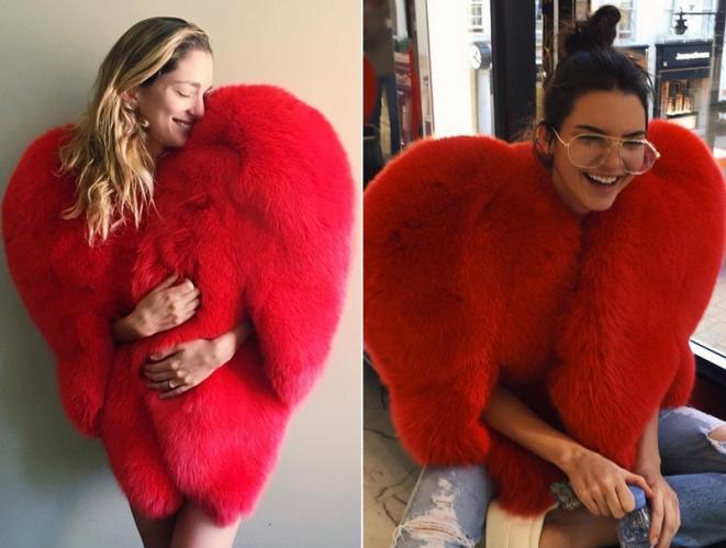 El 'abrigo-corazón' de Saint Laurent que llevan todas las celebrities
