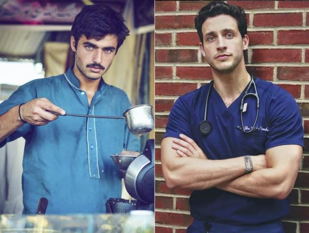 Arshad Khan vendedor de té