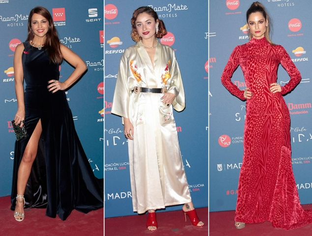 La alfombra roja de la Gala Sida en Madrid
