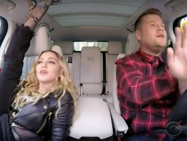 Y Madonna cantó 'Vogue' en el Carpool de James Corden