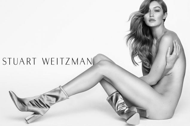 Gigi Hadid desnuda anuncio