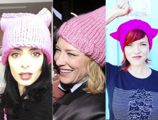 La historia del 'Pussy Hat', el gorro anti Trump que tiñe todo de rosa