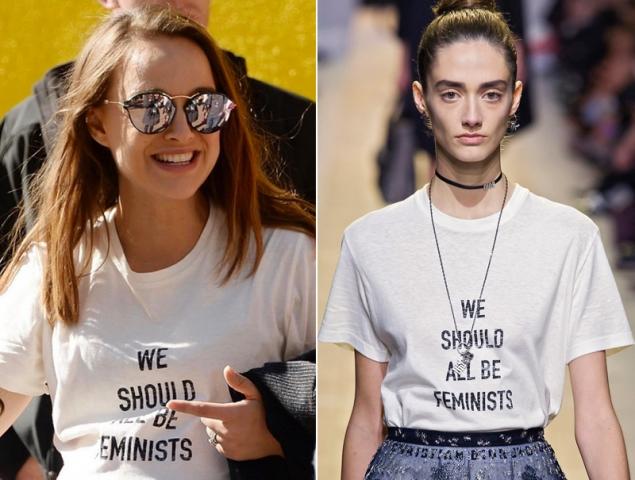 La camiseta feminista de Dior que llevaron las 'celebrities' en la marcha de las mujeres