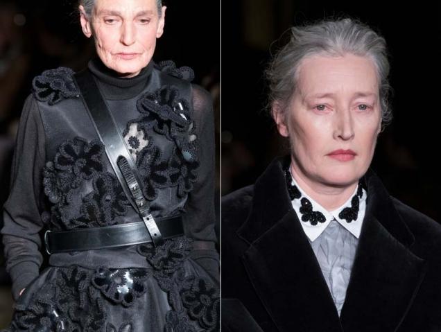 Las modelos estrella de la London Fashion Week son mujeres maduras