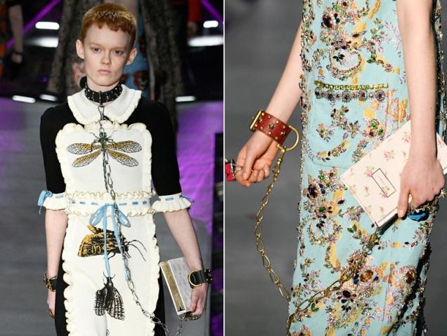 Las modelos de Gucci desfilan con libros de Jane Austen bajo el brazo