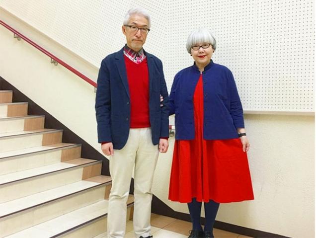 Conoce a la pareja de abuelos japoneses conjuntados que triunfa en Instagram
