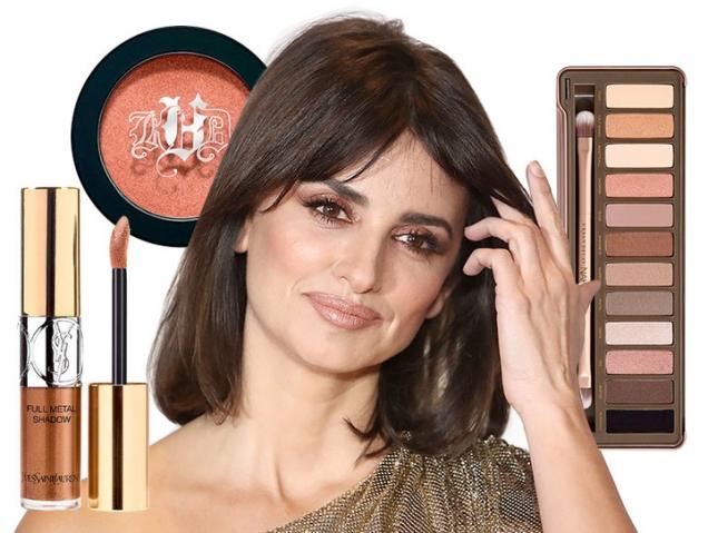 Maquillaje de ojos color cobre