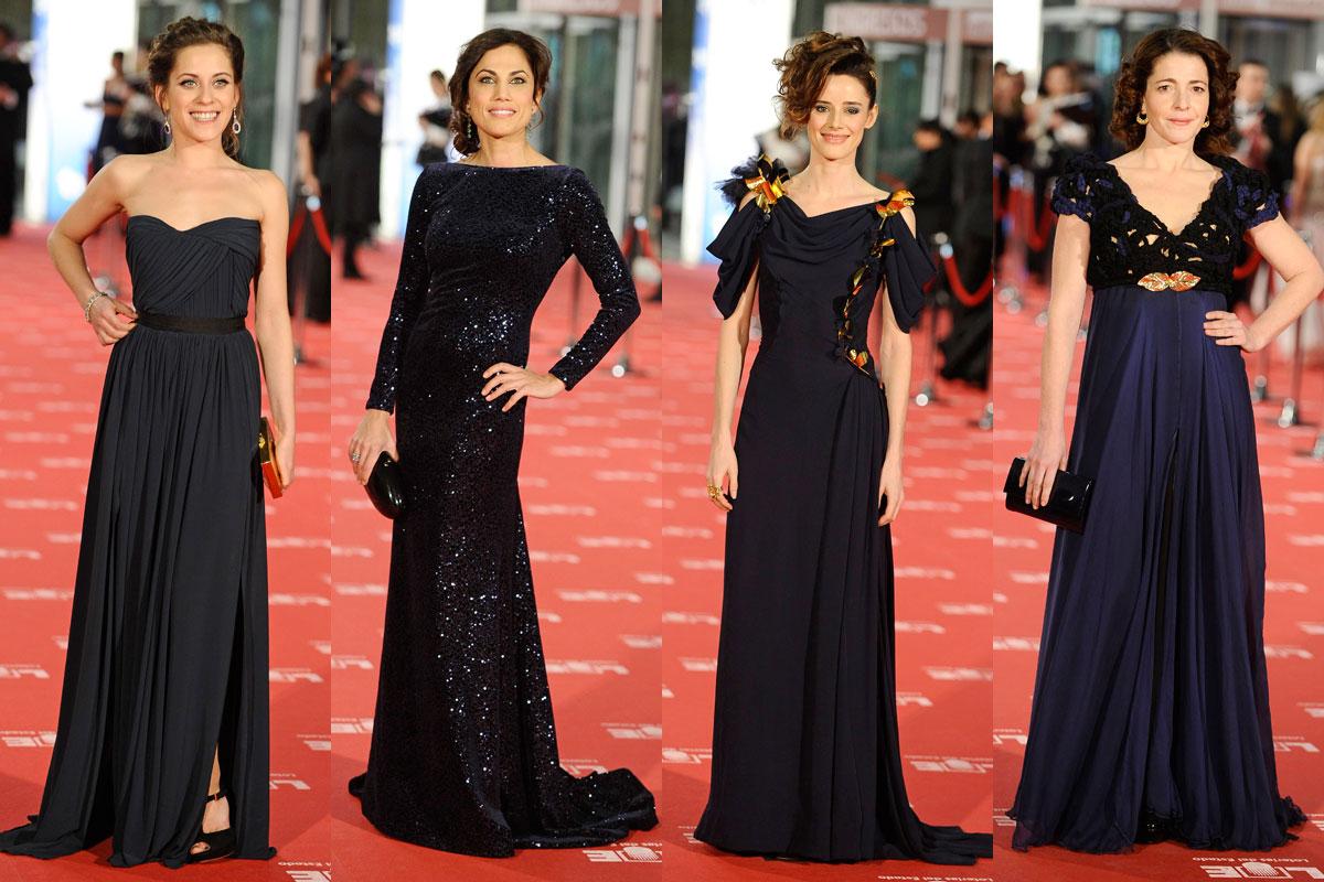 Vestidos azules Goya 2012
