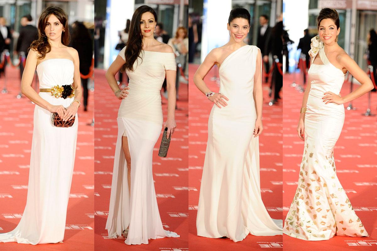 Vestidos blancos Goya 2012