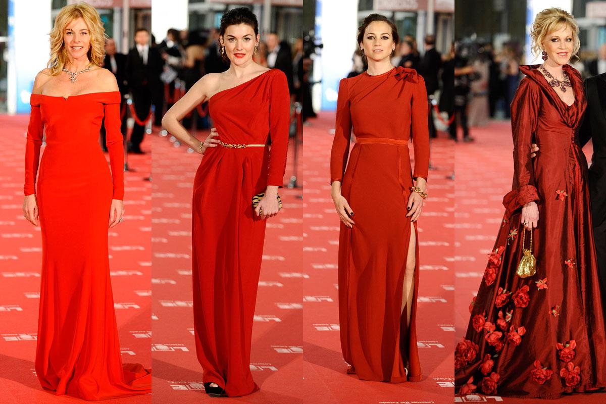 Vestidos rojos Goya 2012